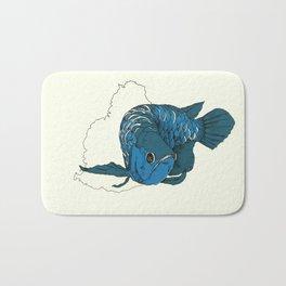 Blue Arowana Bath Mat