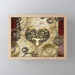 Steampunk, wonderful heart Framed Mini Art Print