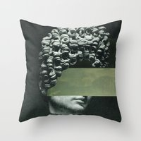 rothko Throw Pillows featuring Frau Rothko 2 by Marko Köppe