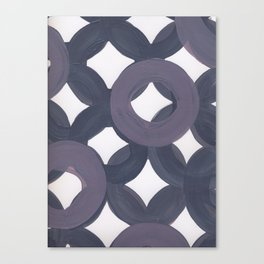 Purple Geo Circles Canvas Print