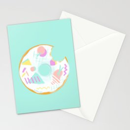 New wave donut Stationery Cards