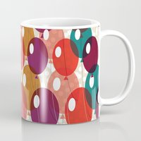 balloons Mugs featuring Balloons by Michelle Nilson