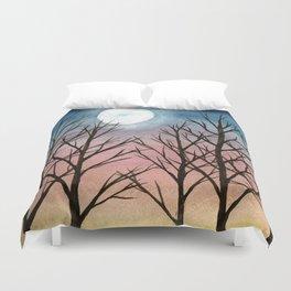"""""""Trees at Dusk"""" Duvet Cover"""