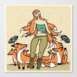Wisest Kitsune Canvas Print