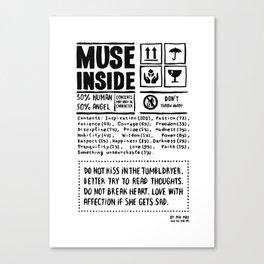 Muse inside Canvas Print