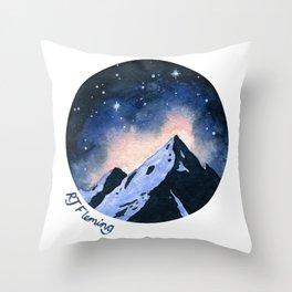 Starry Mountains Throw Pillow