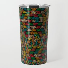 Rubik in optical illusion (structure and pattern) Travel Mug