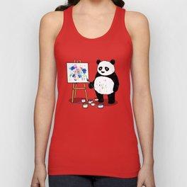 Panda Painter Unisex Tank Top