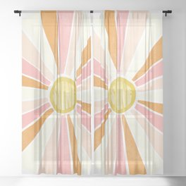 sundial shine Sheer Curtain