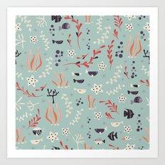 Sea creatures 006 Art Print