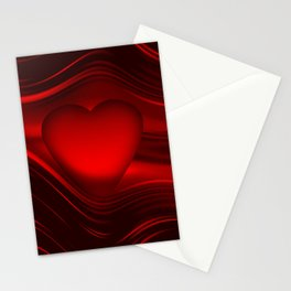 Red heart 16 Stationery Cards