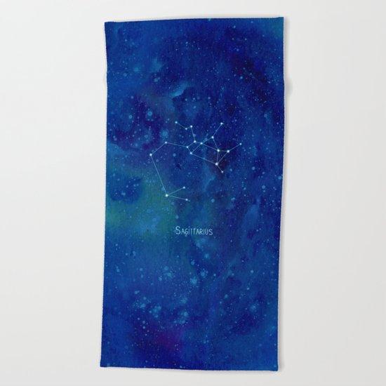 Constellation Sagittarius  Beach Towel
