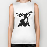 antler Biker Tanks featuring Antler by Maria Kate Betts