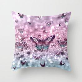 Pastel Unicorn Butterfly Glitter Dream #2 #shiny #decor #art #society6 Throw Pillow