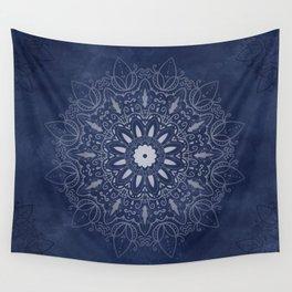 Indigo Mystique Mandala Wall Tapestry
