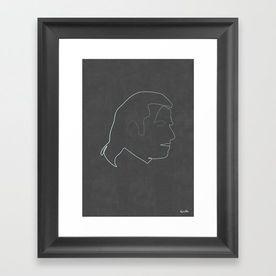 One line Vincent Vega Framed Art Print