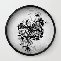 jack skellington Wall Clocks featuring Jack Skellington by bimorecreative
