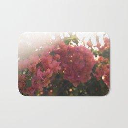 Dreamy Tropical Flowers Bath Mat