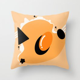 Scrambled in Space Throw Pillow