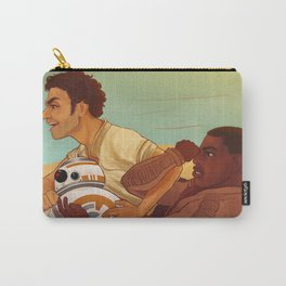 speeder ride with poe, finn and bb8 Carry-All Pouch