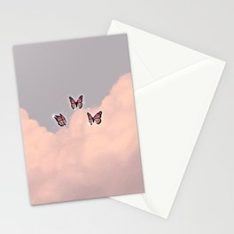 Butterflies in the clouds aesthetic Stationery Cards