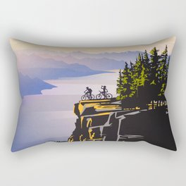 Retro travel BC poster Rectangular Pillow