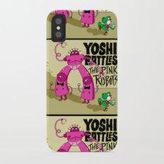 Yoshi Battles The Pink Robots iPhone X Slim Case