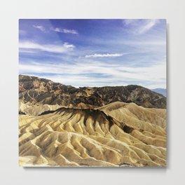 Desert Crinkle Metal Print