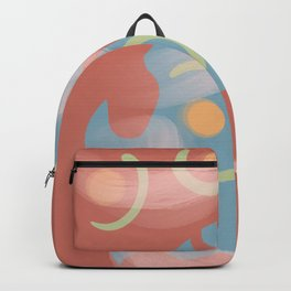 Midcentury Modern Abstract Rust Backpack