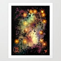 The Zodiac Sign -- Gemini Art Print