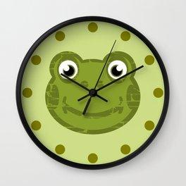 Cute Frog Face Wall Clock