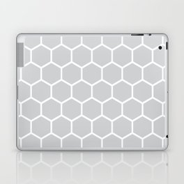 White and gray honeycomb pattern Laptop & iPad Skin