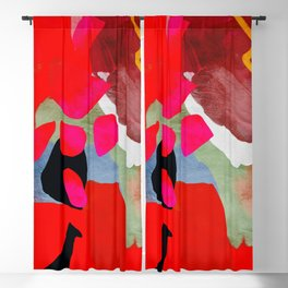 phantasy in red abstract Blackout Curtain