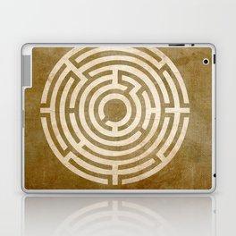 Solving Mazes Gold Laptop & iPad Skin
