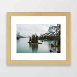 Emerald Landscape Photography | Maligne Lake | Jasper Alberta | Spirit Island Framed Art Print