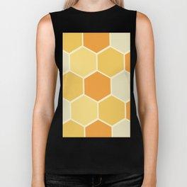 Yellow Honeycomb Biker Tank