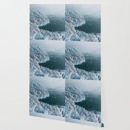 Giant Silent Glacier - Aerial Landscapes Wallpaper