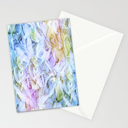 Soft Rainbow Floral Abstract Stationery Cards