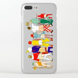 Fast Food Butts Mascots Clear iPhone Case
