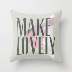 Make Lovely // Stone Throw Pillow