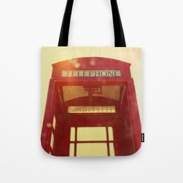 Red Telephone Box Tote Bag