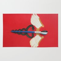 medical Area & Throw Rugs featuring Medical Corps Snake by ArtSchool