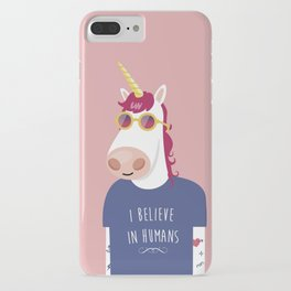 I believe in Humans iPhone Case