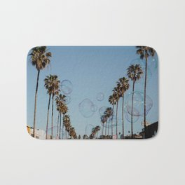 Bubbles & Palm Trees Bath Mat