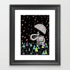 Running From The Rain Framed Art Print