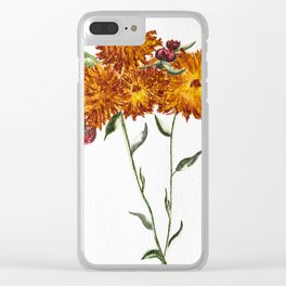 Summer Floral Watercolour Painting Clear iPhone Case