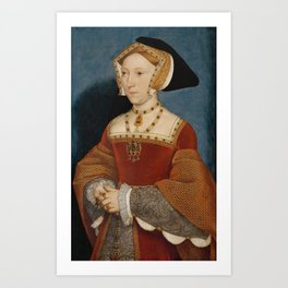 Jane Seymour Portrait - Queen of England - Hans Holbein the Younger Art Print