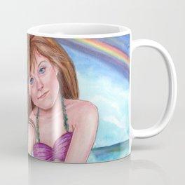 Minda Mermaid Child Rainbow Fantasy Beach Coffee Mug