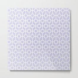 Periwinkle Purple Lattice Pattern Metal Print