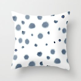 indigo shibori 03 Throw Pillow